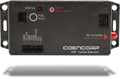 Coencorp's vehicle data unit available to monitor fleet maintenance.