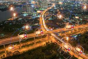 GPS highway overview at night-AdobeStock_178511699