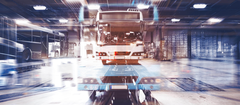 Public-transit-bus-in-service-bay-coencorp-sm2-fuel-transit