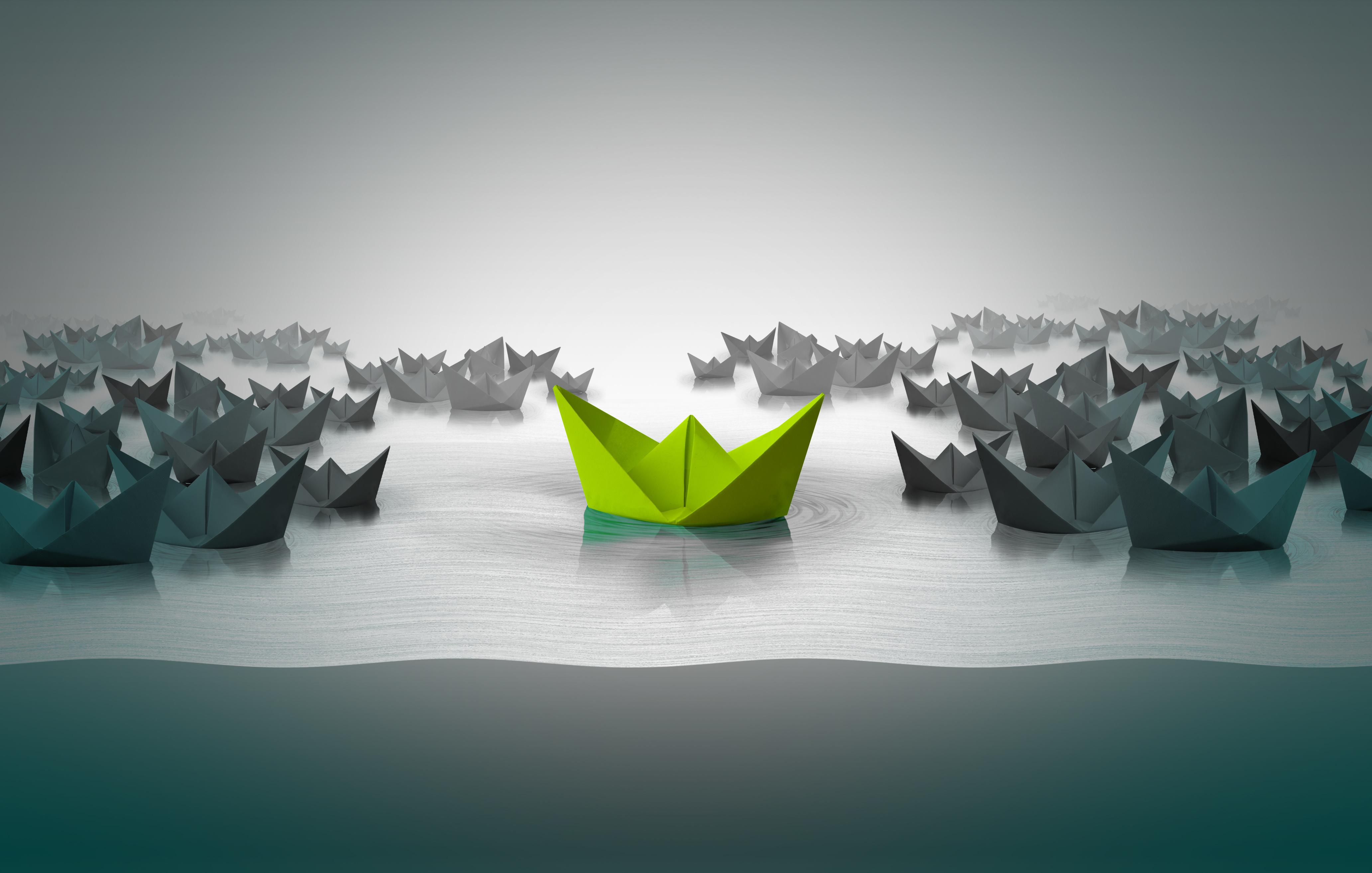 Green Paper Boat-AdobeStock_93623955
